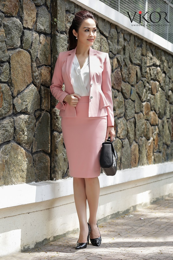 Chân váy nữ VW40123 màu hồng thích hợp mọi đối tượng