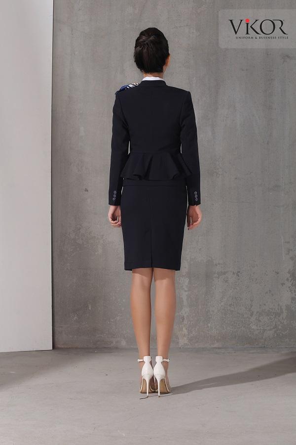Chân váy nữ VW40107 thiết kế 2 lớp, độ dài váy trên đầu gối