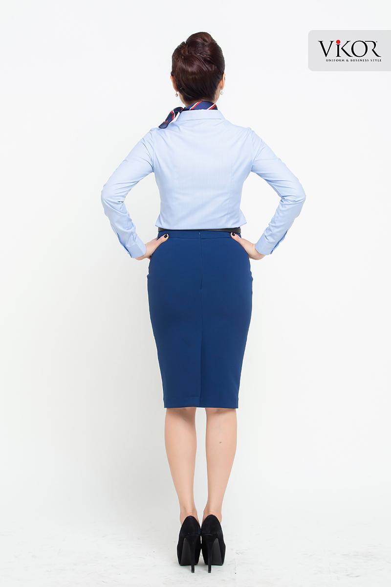 Mẫu đồng phục sơ mi dài tay cho các cô nàng công sở