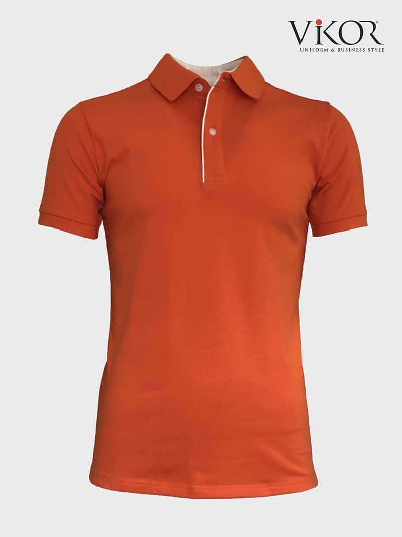 Áo thun đồng phục công sở nam màu cam