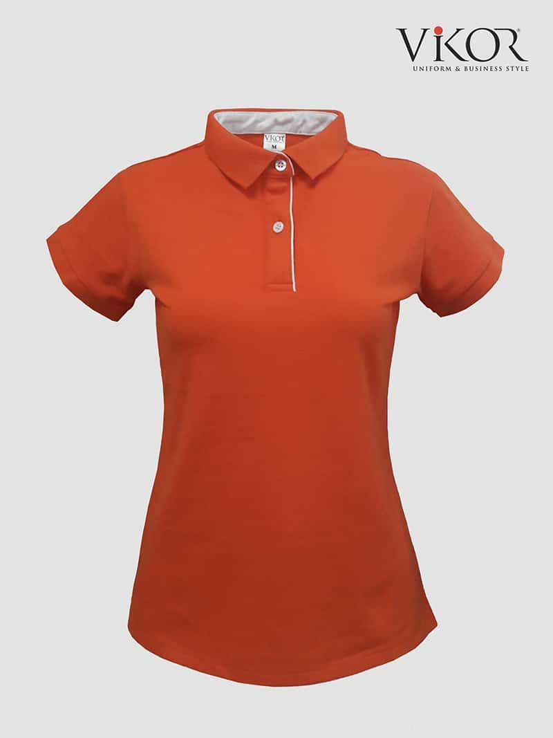 Áo thun đồng phục công sở nữ màu cam