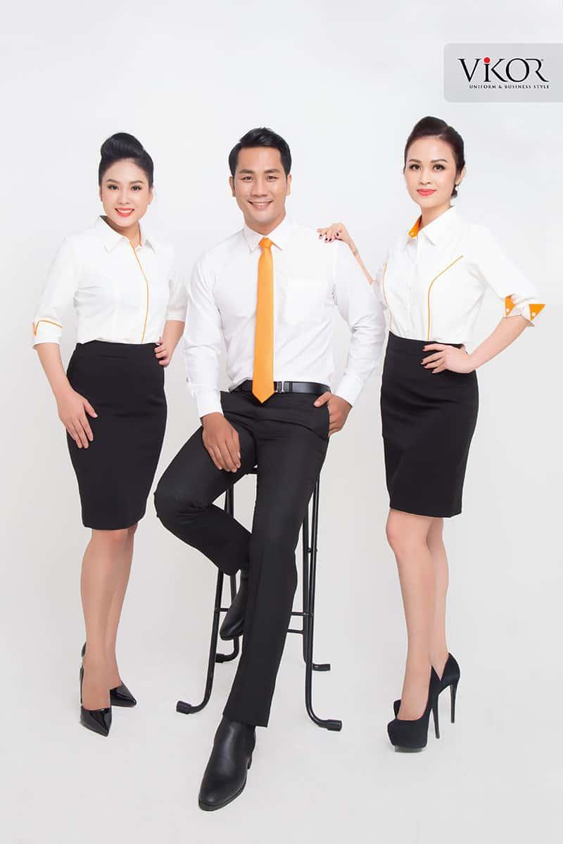 BST đồng phục công sở màu cam VIKOR