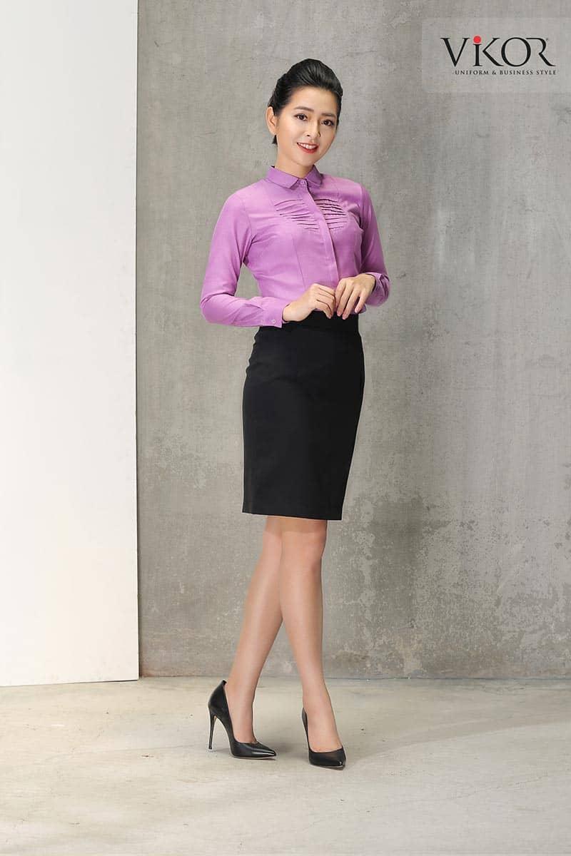 Chân váy đồng phục công sở nữ may sẵn