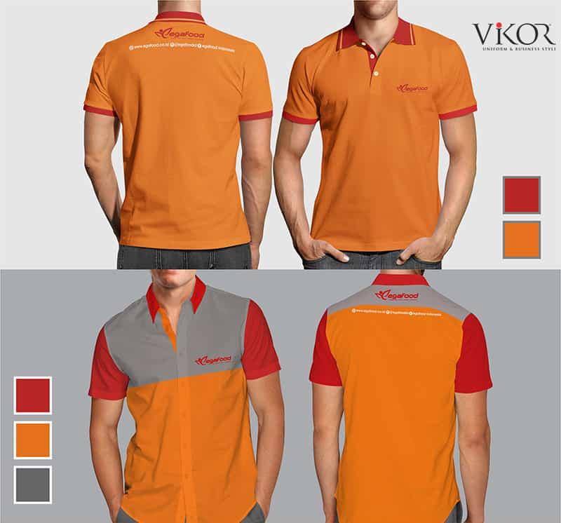 Đồng phục áo thun công sở màu cam