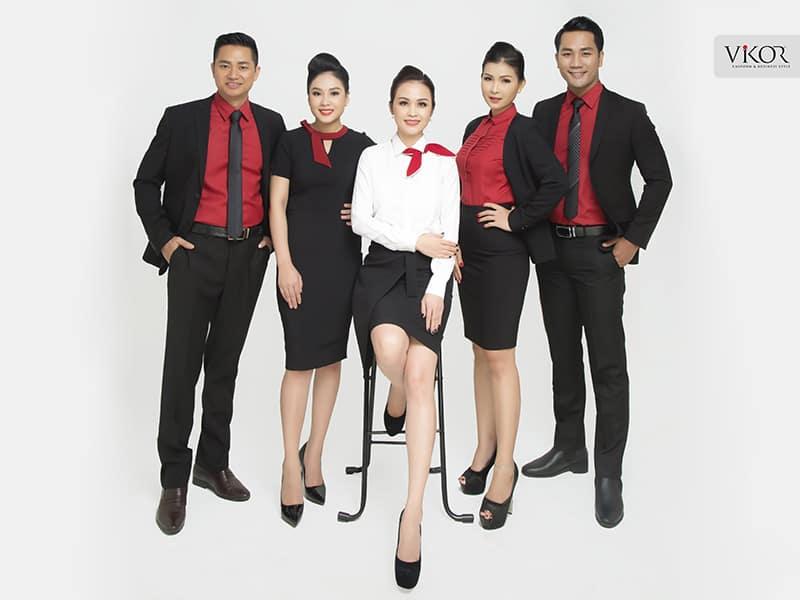 Đồng phục công sở màu đỏ