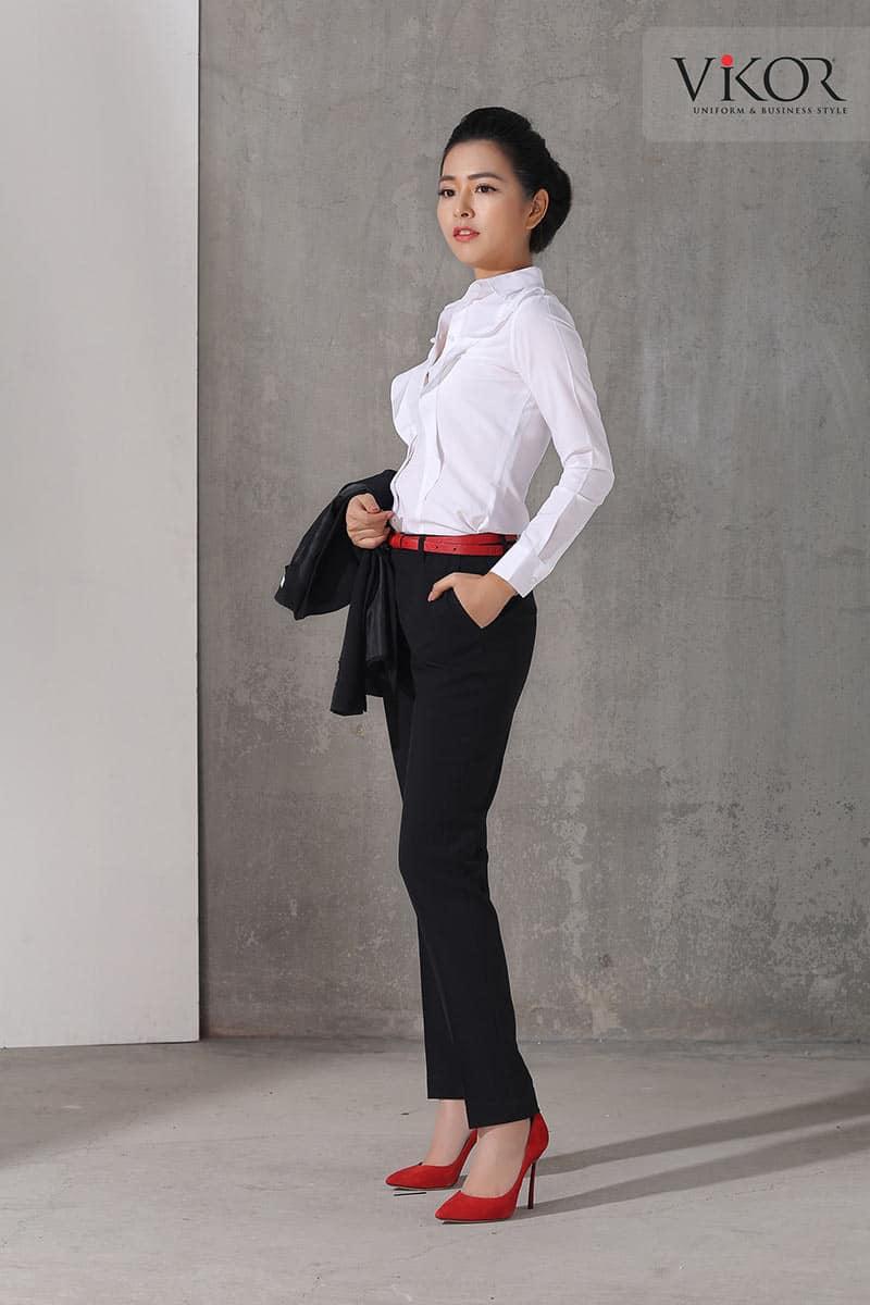 Đồng phục quần Tây nữ công sở may sẵn