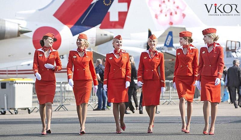 Đồng phục tiếp viên hàng không màu cam