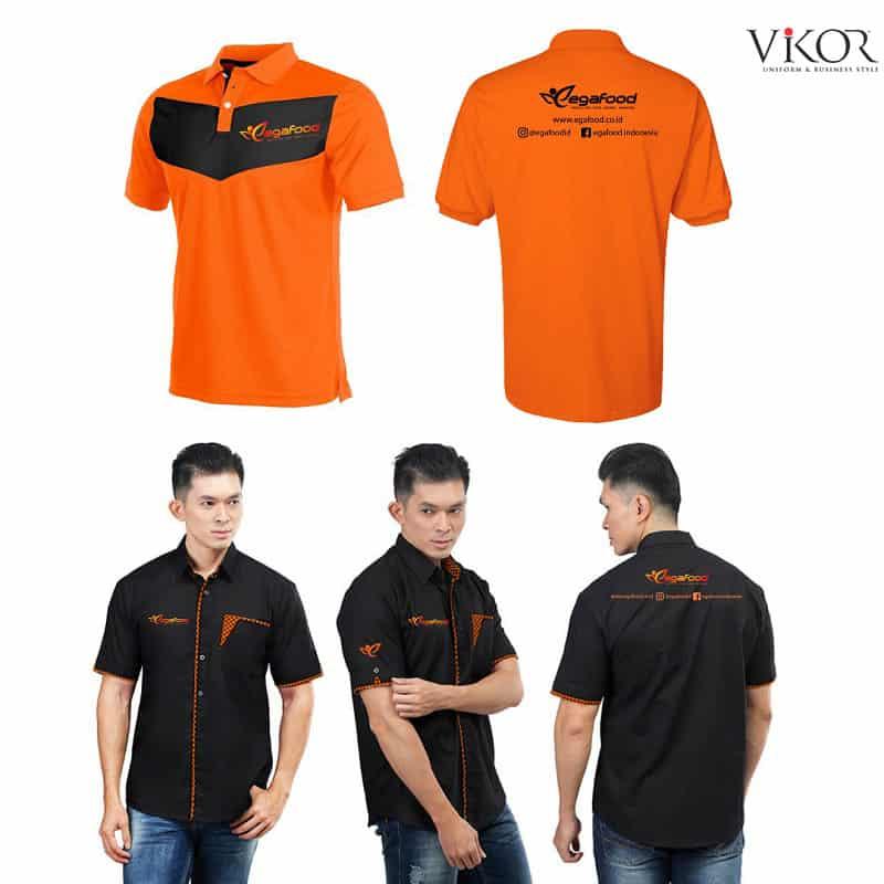 Mẫu áo thun đồng phục công sở màu cam