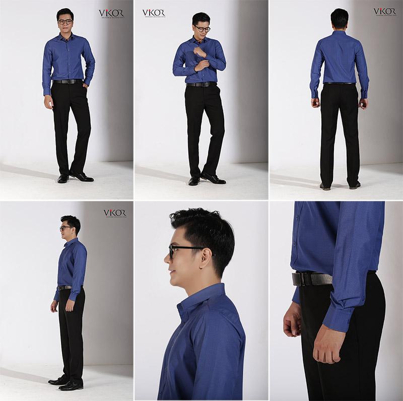Chi tiết áo sơ mi nam đồng phục công sở