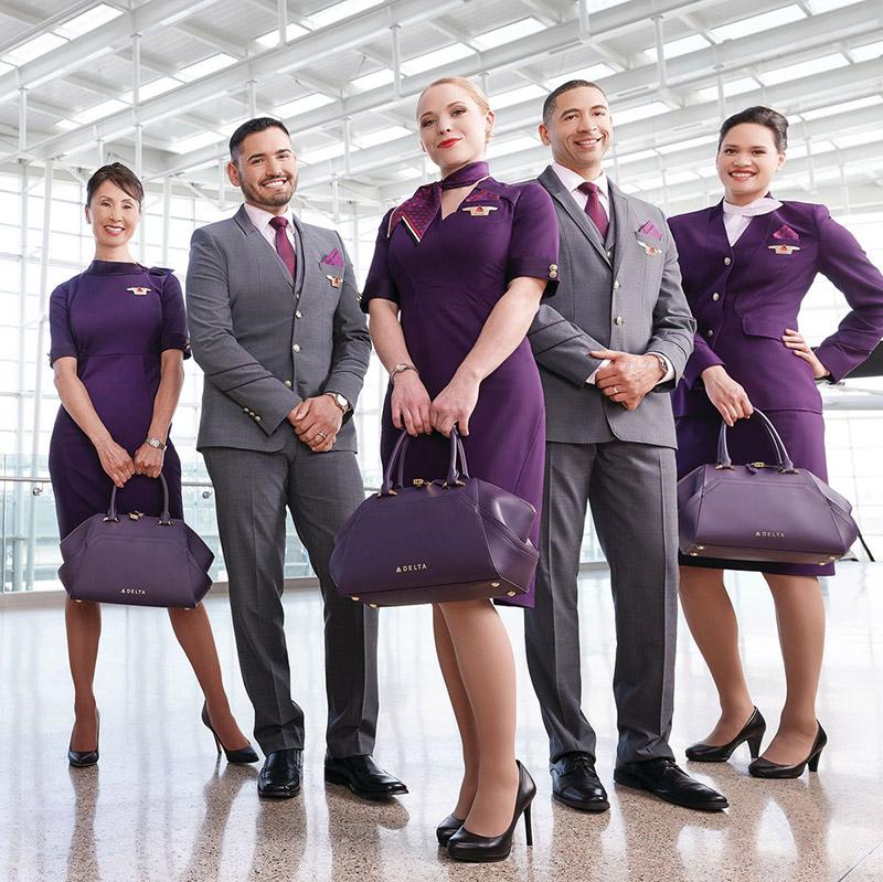 Màu tím được các hãng hàng không trên thế giới lựa chọn trong thiết kế đồng phục thể hiện sự chuyên nghiệp, đẳng cấp