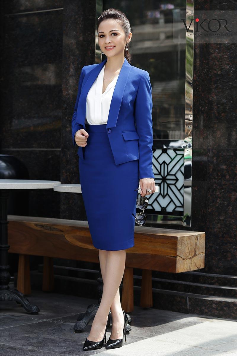 Bộ vest nữ công sở đẹp cho mùa thu