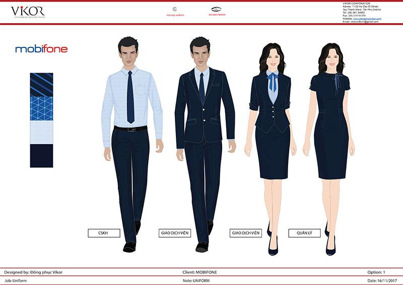Mẫu thiết kế đồng phục Mobifone