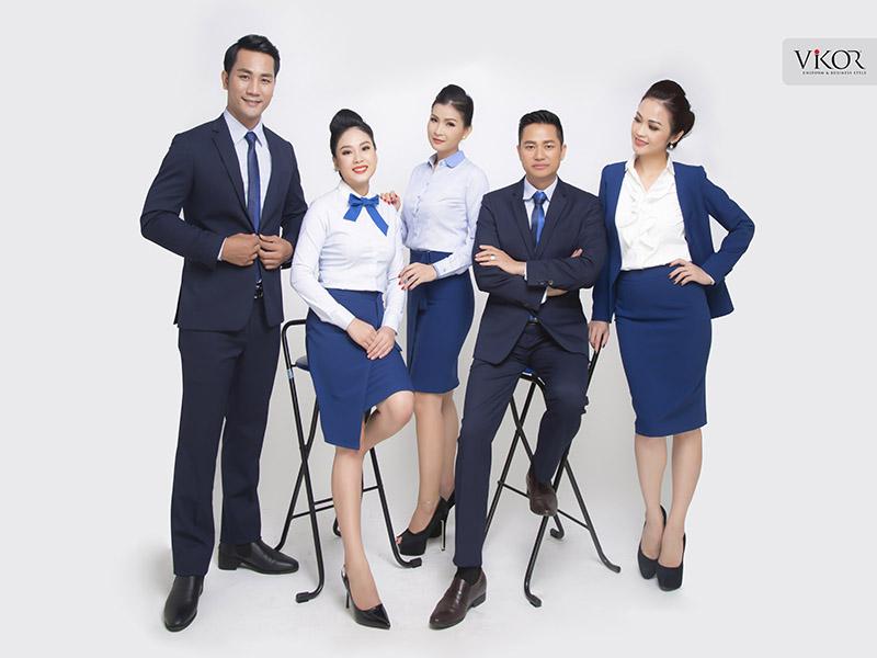 Đồng phục xanh dương chuyên nghiệp VIKOR