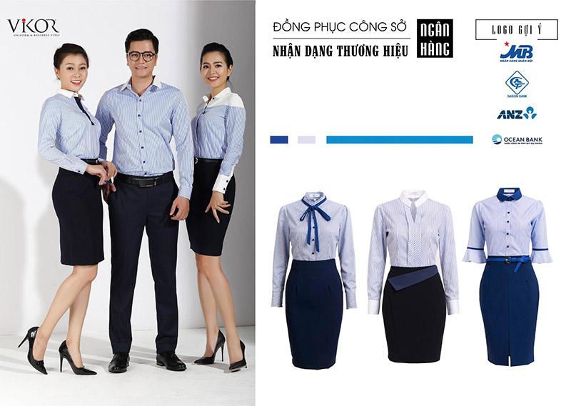 Sơ mi đồng phục phù hợp nhận diện thương hiệu ngân hàng