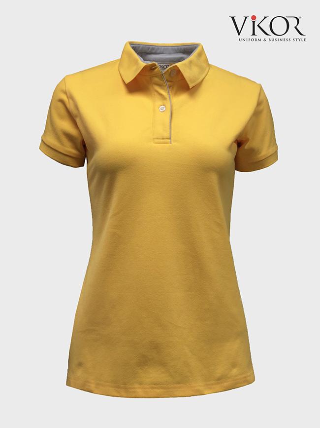 Áo thun đồng phục công sở nữ màu vàng