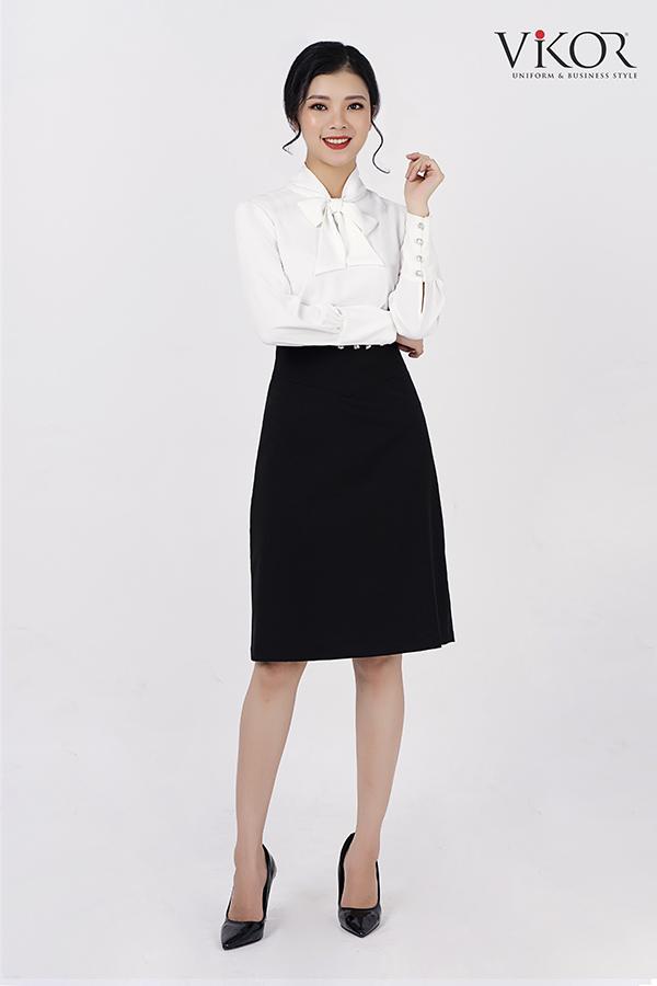 Chân váy chữ A đồng phục công sở