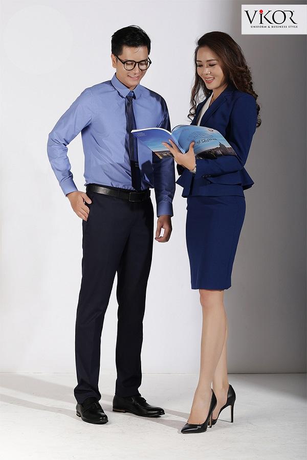 Đồng phục nam nữ màu xanh
