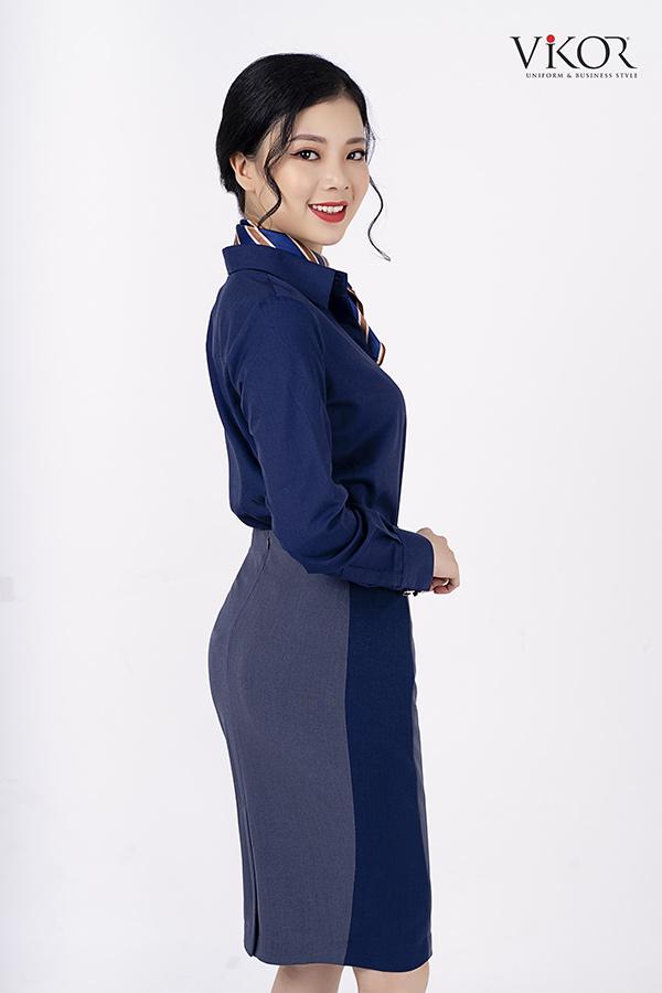 Mẫu đồng phục chân váy công sở đẹp