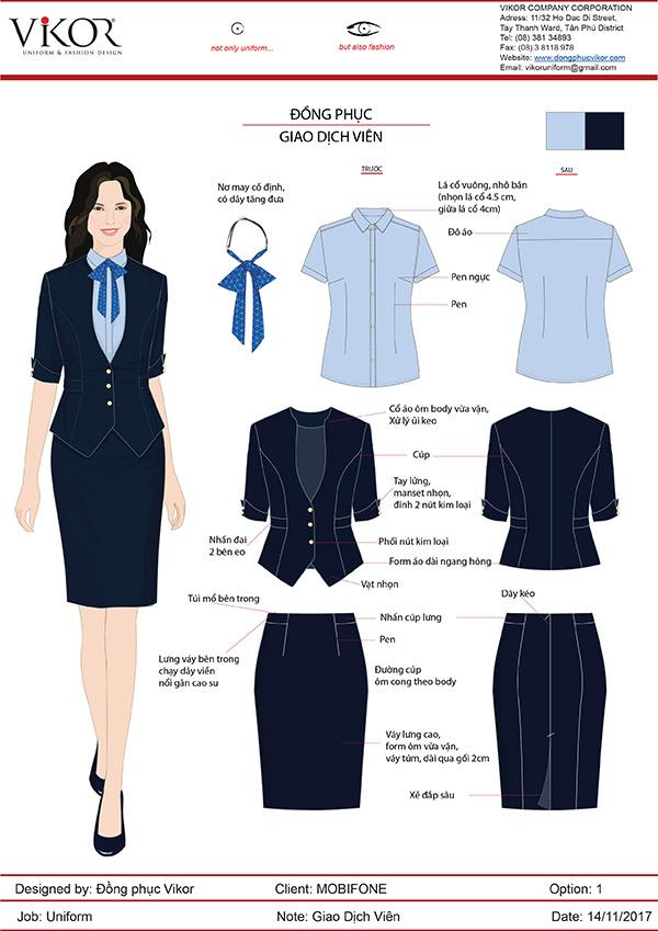 Mẫu thiết kế đồng phục công sở nữ