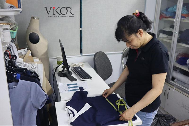 VIKOR ứng dụng quy trình may áp size hạn chế sai sót về size đồng phục