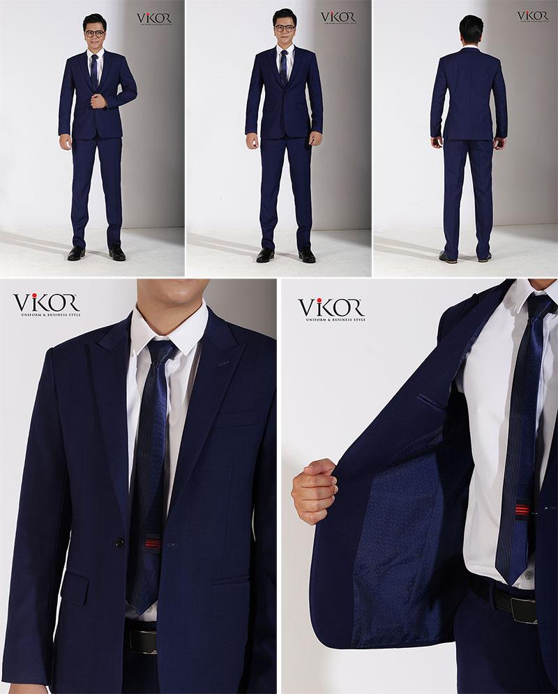 Áo vest nam đồng phục công sở kết hợp với sơ mi và quần Tây đồng bộ