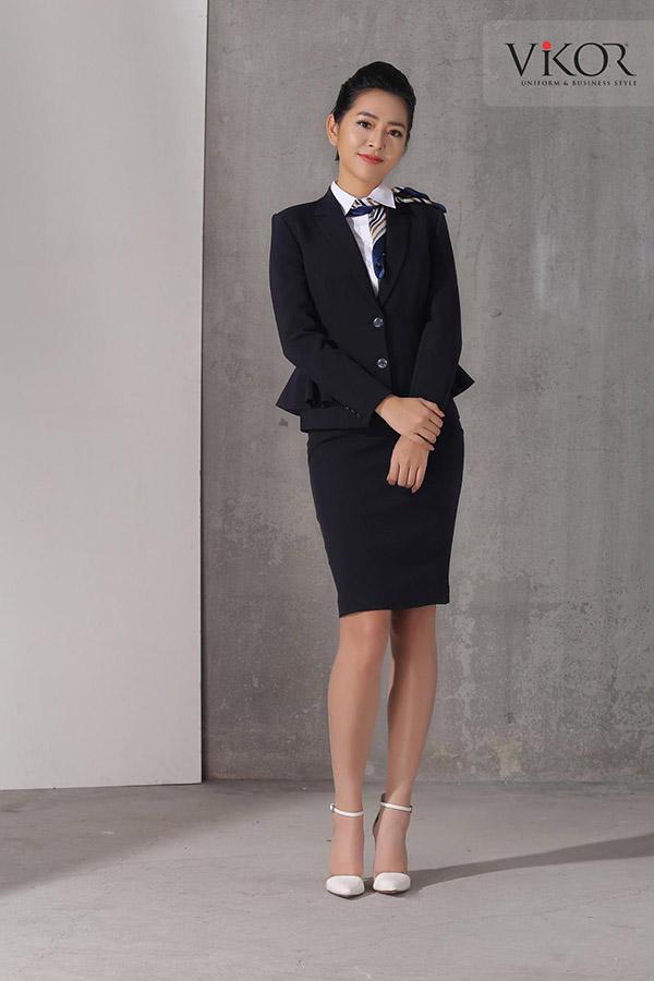Vest nữ đen dáng peplum thời trang