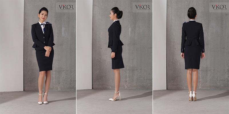 Áo vest nữ kết hợp cùng chân váy, sơ mi