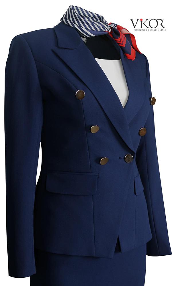 Phụ liệu nút kim loại cao cấp cho đồng phục vest nữ