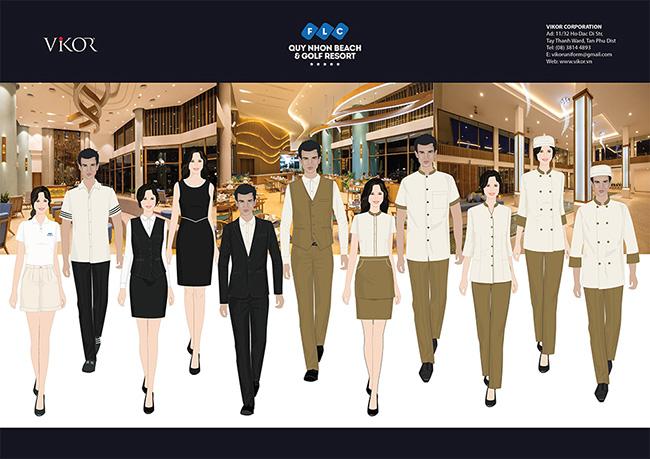 Các mẫu đồng phục cho nhân viên và quản lý trong công ty