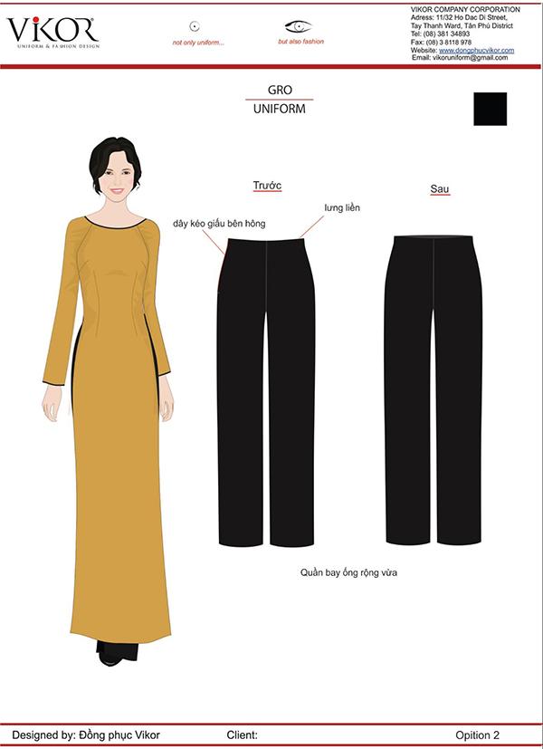 Đồng phục lễ tân giống áo dài truyền thống Việt Nam