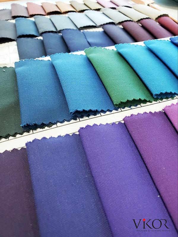 Tổng hợp các mẫu vải may đồng phục VIKOR