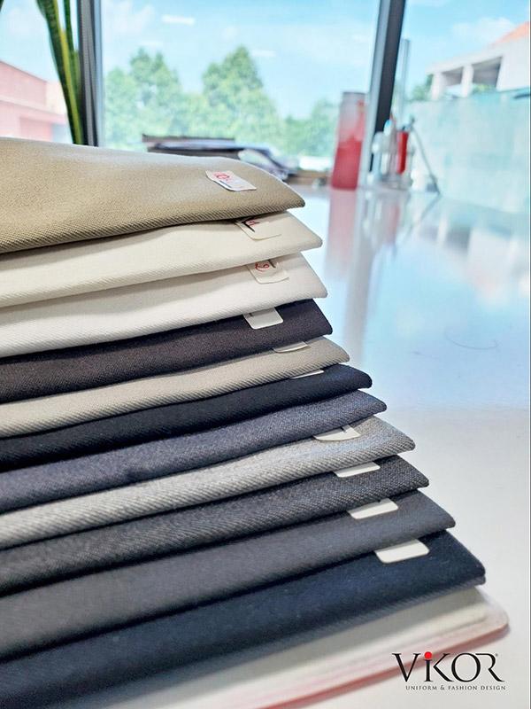 vải may đồng phục quản lý khách sạn các loại màu