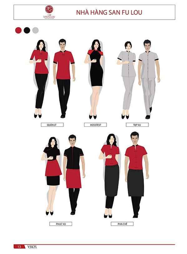 Đồng phục quản lý mang đậm nét văn hóa của nhà hàng