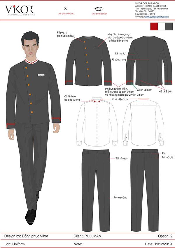 Thiết kế mẫu đồng phục của doorman khách sạn