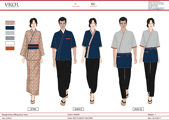 Đồng phục quản lý nhà hàng sẽ có gam màu trung tính