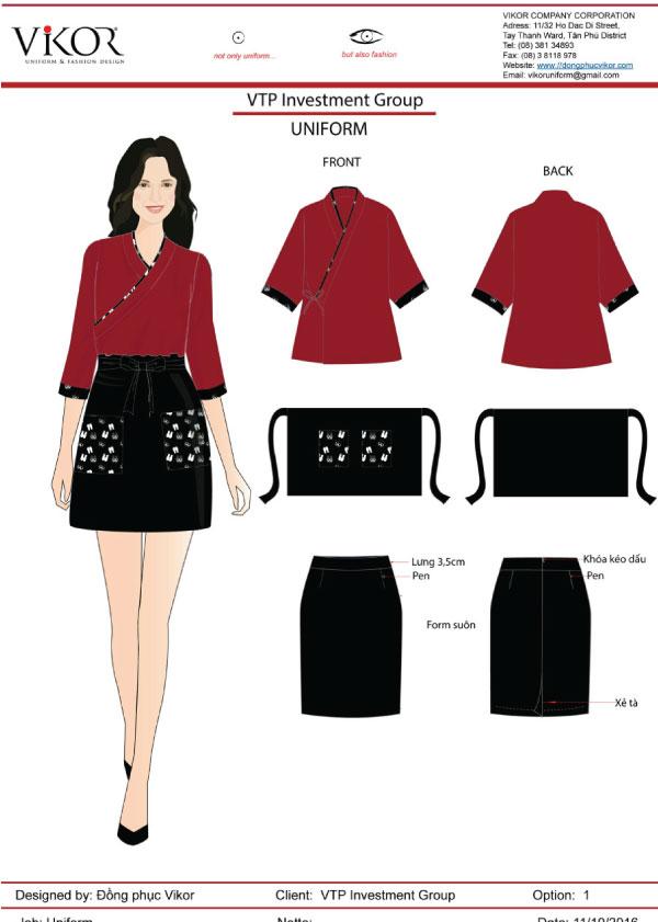 Đồng phục màu đỏ bordeaux