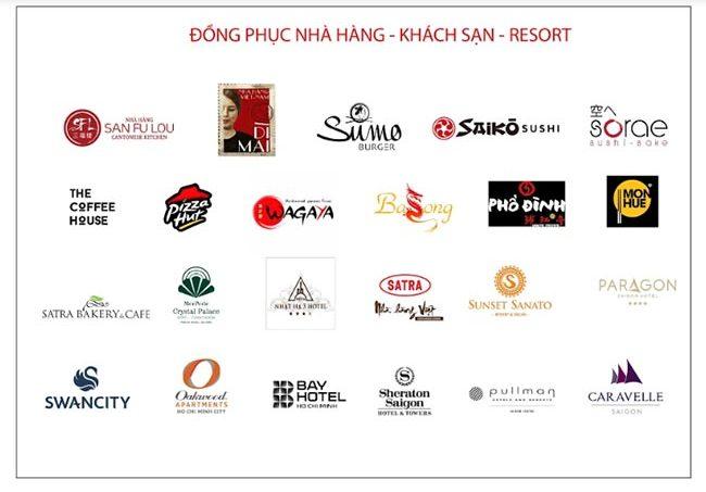 Nhiều thương hiệu nhà hàng khách sạn là khách hàng của VIKOR