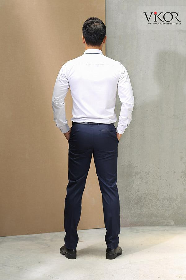 Đồng phục công ty mẫu 001 nam sơ mi nhìn từ phía sau