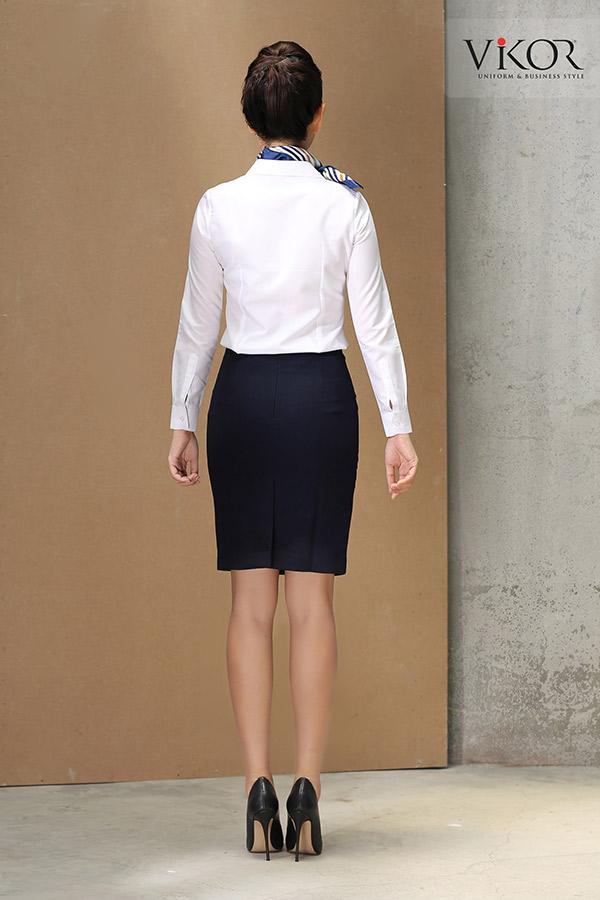 Đồng phục công ty mẫu 001 nhìn từ phía sau của nữ
