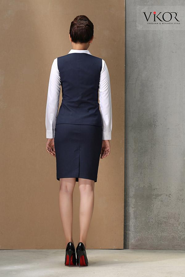 Đồng phục công ty mẫu 002 nữ gile
