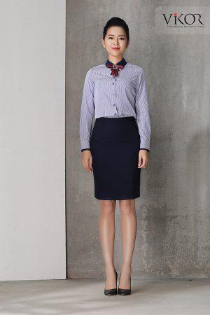 Đồng phục công ty mẫu 004 nữ mẫu 1