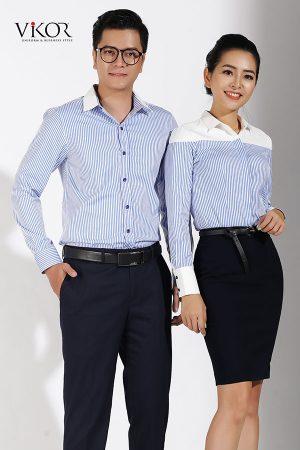 Đồng phục công ty mẫu 007 nam nữ đẹp