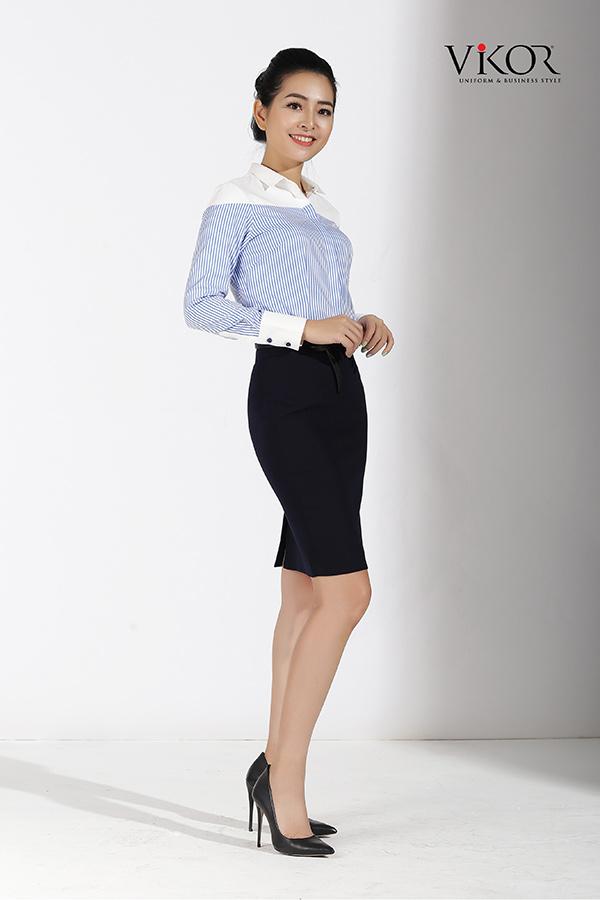 Đồng phục công ty mẫu 007 nữ mẫu 1