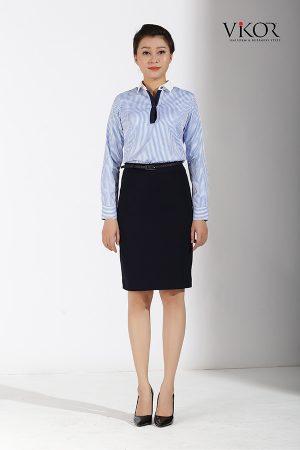 Đồng phục công ty mẫu 007 nữ mẫu 2 sơ mi