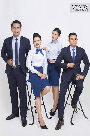 Đồng phục công ty mẫu 011 cho nam nữ