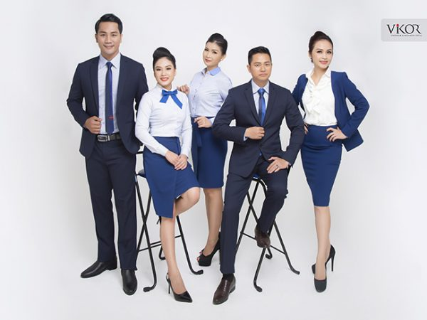Đồng phục công ty mẫu 011 nam nữ