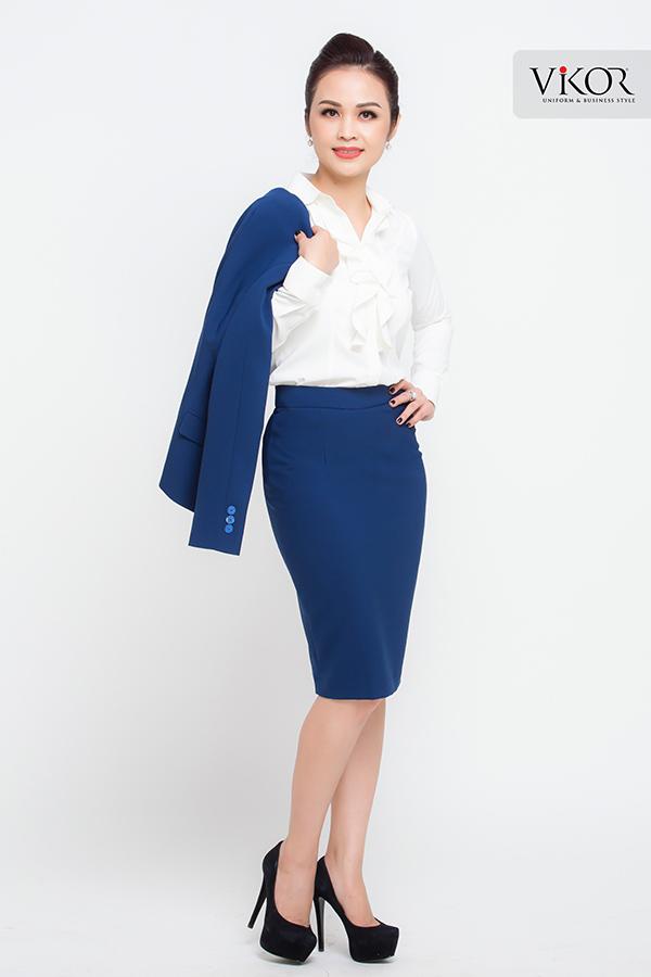 Đồng phục công ty mẫu 011 nữ đẹp