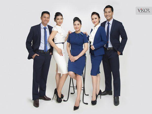 Đồng phục công ty mẫu 012 nam nữ