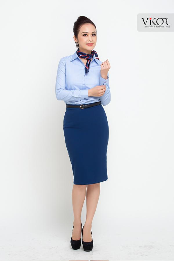 Đồng phục công ty mẫu 013 nữ đẹp