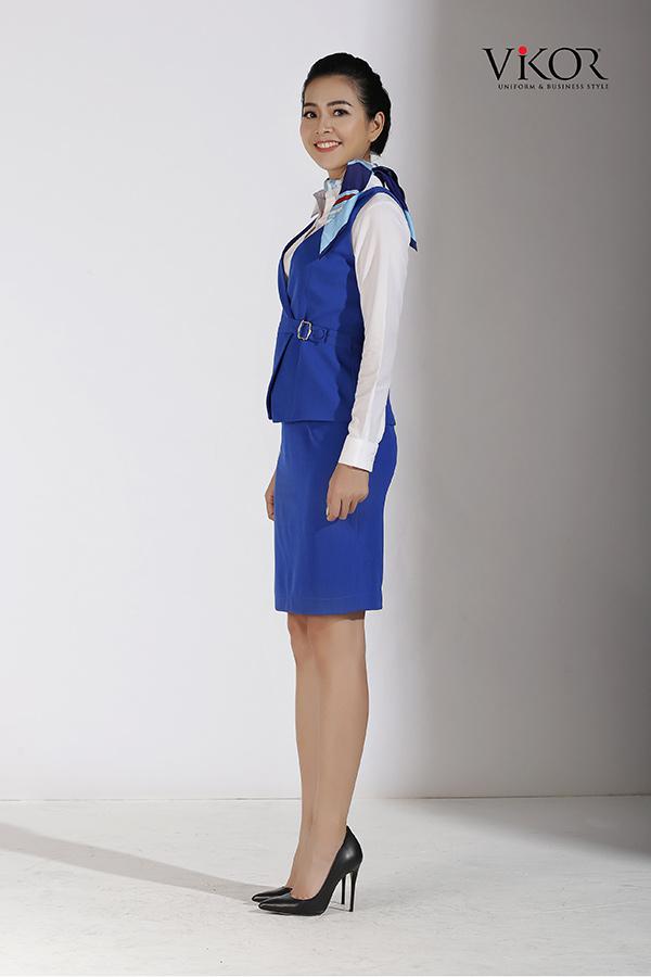 Đồng phục công ty mẫu 015 gile đẹp
